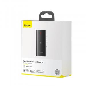Receptor Bluetooth 5.0 Baseus BA03, sunet 3D, NFC, aptX (negru)
