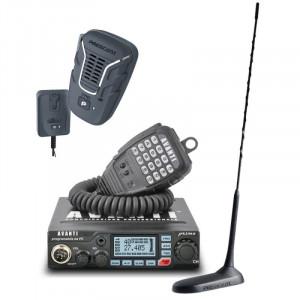 Statie radio CB Avanti Primo (versiunea PRO) cu antena Virginia UP si microfon wireless