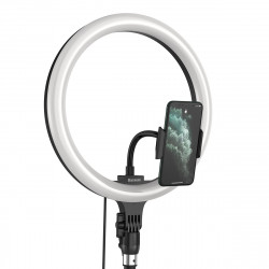 Trepied Baseus Livestream holder-table, cu lumina inel 12'' (negru)