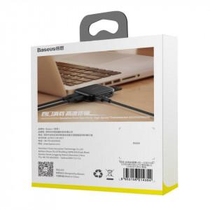 Adaptor 4in1 Baseus Fully Folded HUB USB la 4x USB 2.0