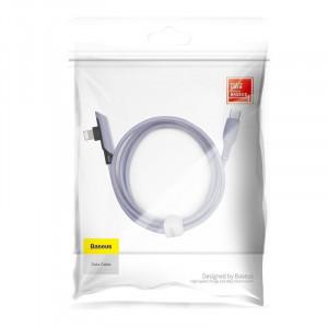 Cablu 90 grade USB-C - Lightning Baseus Colourful, PD, 18W, 1.2m (violet)