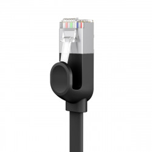 Cablu Ethernet plat Baseus High Speed, Ethernet RJ45, Gigabit, Cat.6, 5m (negru)
