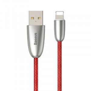Cablu incarcare USB Lightning Baseus Torch cu lumina 2.4A 1m (rosu)