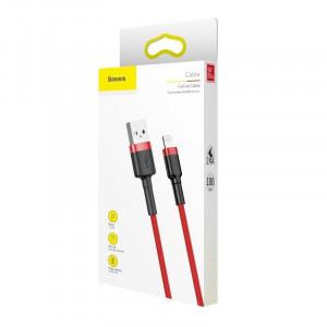 Cablu Lightning USB Baseus Cafule 2.4A 1m (rosu)