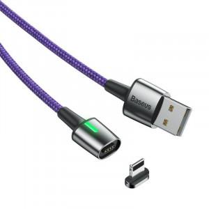 Cablu magnetic Lightning Baseus Zinc 2.4A 1m (violet)