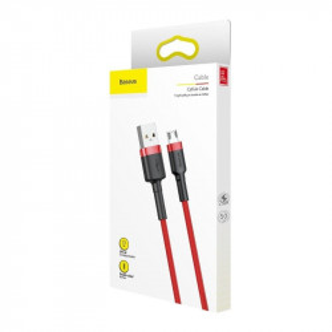 Cablu Micro USB Baseus Cafule 1.5A 2m (rosu)