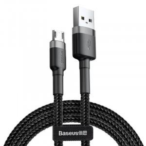Cablu Micro USB Baseus Cafule 2.4A 0,5m (gri-negru)