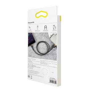 Cablu USB Lightning Baseus Cafule 2.4A 0,5m (auriu-negru)