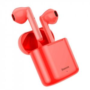 Casti wireless Baseus Encok W09 TWS Bluetooth 5.0 (rosu)
