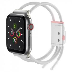 Curea Baseus Let's Go pt Apple Watch 3/4/5 38mm/40mm (alb-roz)