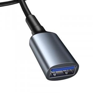 Extensie cablu USB 3.0 Baseus Cafule, 2A, 1m (negru-gri)