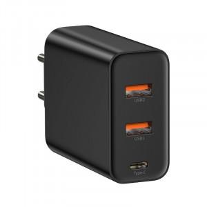 Incarcator retea USB Baseus PPS 2xUSB QC + USB-C PD 60W (negru)