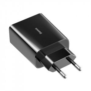 Incarcator retea USB-C PD Baseus Mini, Power Delivery 18W (negru)
