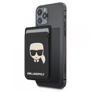 Portofel Karl Lagerfeld Saffiano Karl Head, MagSafe (negru)