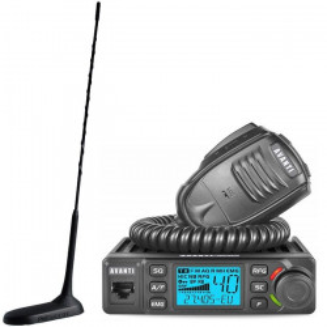 Statie radio CB Avanti Delta 12V - 24V cu antena Virginia UP de 49cm