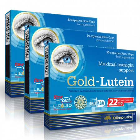 Poze Gold Lutein 3x30 cps