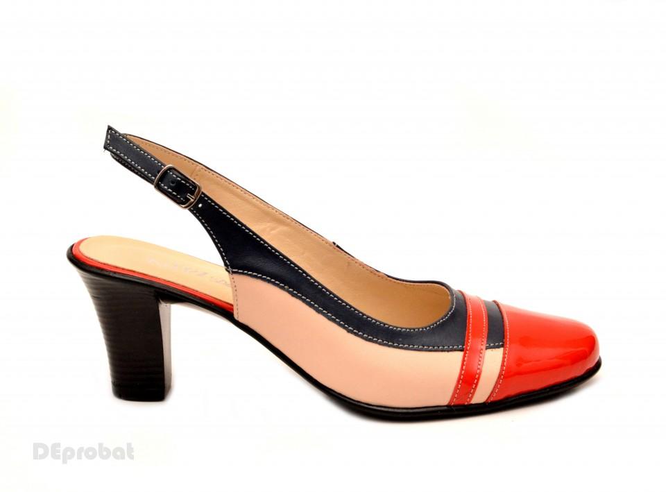 Pantofi cu toc bej de dama MENBUR - DIGG