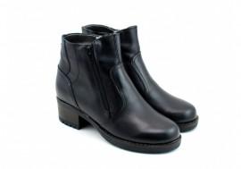 Poze Ghete dama casual-elegante negre din piele naturala cod G33N