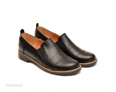Poze Pantofi dama negri casual-eleganti din piele naturala - LICHIDARE STOC 37