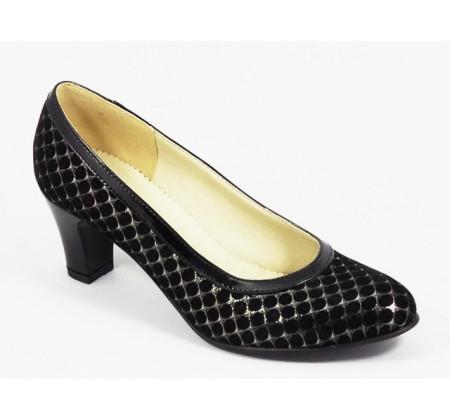 Poze Pantofi eleganti dama negri din piele naturala cod P320