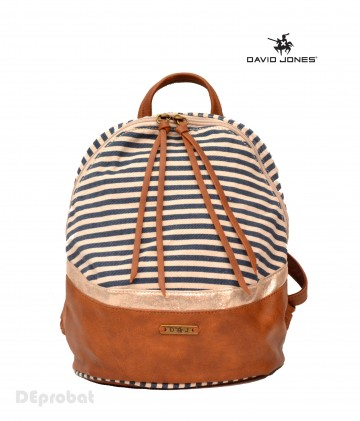 Rucsac dama original David Jones 5744-3DBLUE - Model de primavara cu material panzat