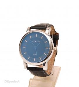 Poze Ceas barbati Jianuo negru (cadran degrade albastru) casual - elegant cod CC37