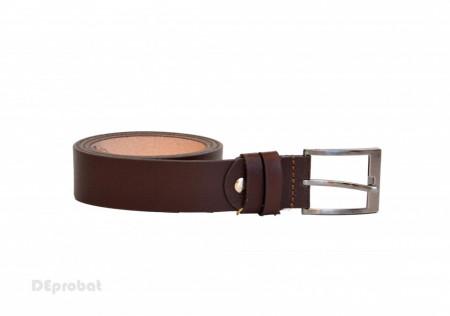 Curea piele naturala maro (latime 3,5 cm) - Curea maro piele naturala C123