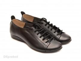 Poze Pantofi dama negri casual-office din piele naturala cod P62