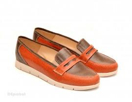 Poze Pantofi dama sport-casual din piele naturala cu elastic cod P107