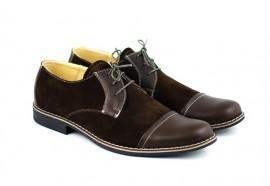 Poze Pantofi maro barbati piele naturala casual-office - cod P85M