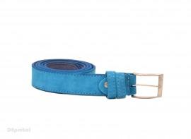 Curea piele naturala intoarsa Bleu (latime 3,3 cm) - Made in Romania C48