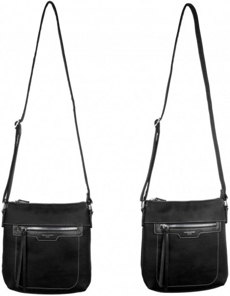 Poze Geanta unisex 6101-2BLACK - 25 x 24 cm - Borseta neagra David Jones