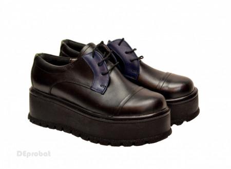 Poze Pantofi dama cu talpa inalta 5,5 cm din piele naturala cod P177
