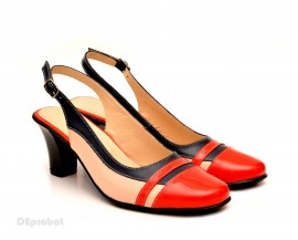 Poze Pantofi dama eleganti din piele naturala cu toc de 7 cm cod P116