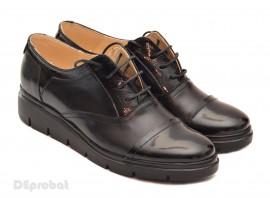 Poze Pantofi dama negri casual-eleganti din piele naturala cod P32
