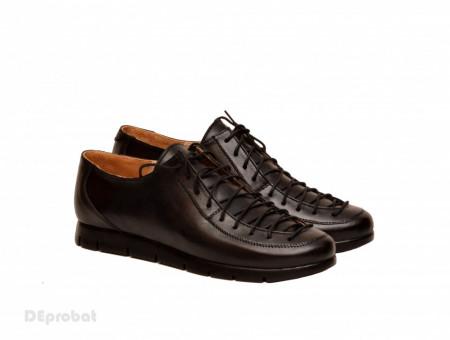 Poze Pantofi dama negri casual-eleganti din piele naturala cod P79N