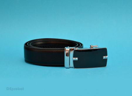 Poze Curea piele eleganta neagra cu catarama automata - Curea neagra piele C114
