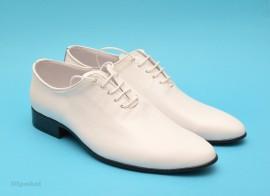 Poze Pantofi albi barbati piele naturala casual-eleganti cod P65ALB - Editie de LUX