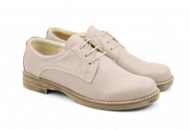 Pantofi dama bej casual-eleganti din piele naturala cod P75BEJ Natasha