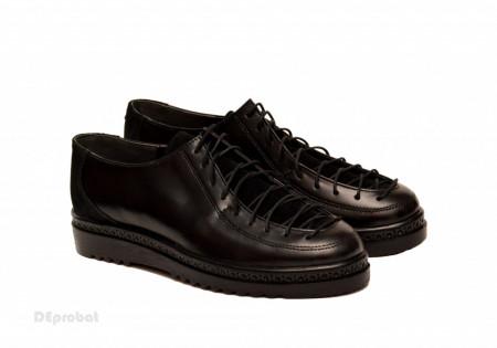 Pantofi dama negri din piele naturala cod P186