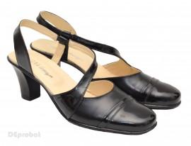 Sandale dama piele naturala negre cu bareta cod S12- Made in Romania
