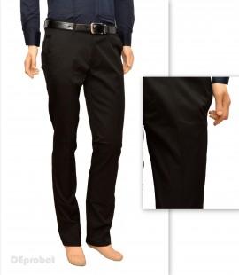 Poze Pantaloni Slim Fit Negri bumbac - Pantaloni barbati eleganti-casual PN23