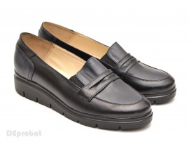Poze Pantofi dama casual-eleganti din piele naturala cu elastic cod P49