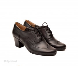 Poze Pantofi negri dama casual-eleganti din piele naturala cod P129