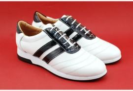 Poze Pantofi sport dama piele naturala alb cu negru cod P86 - Made in Romania