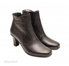 Poze Ghete dama casual-elegante negre din piele naturala cod G19