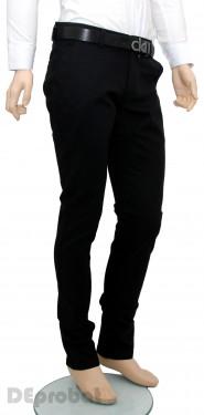 Poze Pantaloni Slim Fit Negri bumbac - Pantaloni barbati (masuri mari) PN18