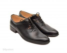Poze Pantofi barbati piele naturala negri casual-eleganti cod P65N - Editie de LUX