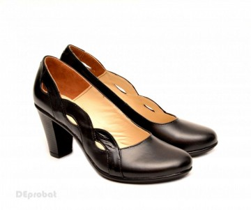 Poze Pantofi dama eleganti negri din piele naturala cod P134