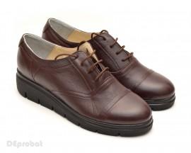 Poze Pantofi dama maro casual-eleganti din piele naturala cod P47M